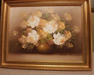 $150 Original oil. Gilt frame.
