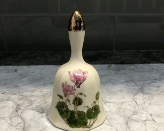 Vintage Cyclamen Otagiri Japan Porcelain Bell. Asking $30