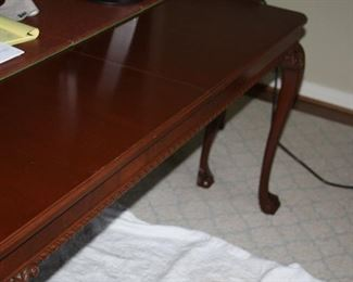 """Henredon Chippendale Dining Tablew/six Chairs - w/pads and three 12"""" leaves - $1,500"""