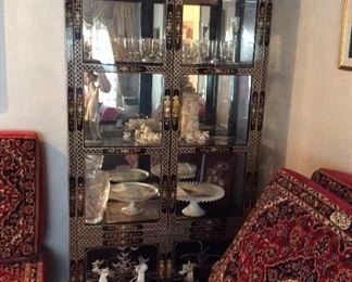 Gorgeous Chinese detailed cabinets/There are two of these 37 x15 x 78   -------