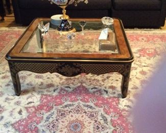 coffee table There is also a matching entry table to this one/great detail 42 x 42   14 tall===
