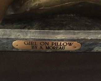A. Moreau  Girl On Pillow