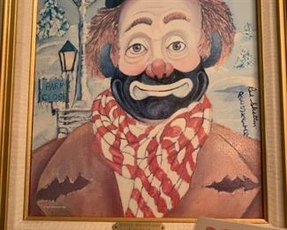 """Red Skelton Lithograph 'Winter Wonderland' Painting #1725/5000 signed w/COA 18.5"""" x 22.5""""!"""