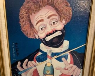 """Red Skelton """"Conducting Beethoven's Fifth"""" 1991 Oil on Canvas Lithograph #1581/5000 Signed with COA 22.5"""" x 18.5""""!"""