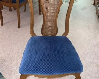 Chair from Bassett Mid-Century Dining Table w/6 Cane Back Chairs & Table Pad (Leafs as is)!