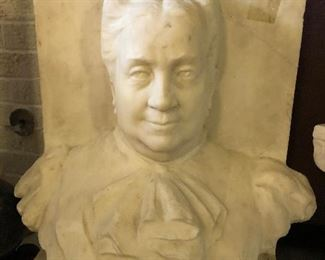"""2nd Antique Life Size Marble Bust: 22"""" High X 18"""" Wide X 9"""" Deep"""