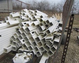 Trailer Load of Vinyl Fencing 6 in Rails 4 & 5 Inch Post/ Routed and Unrouted  -Trailer Included