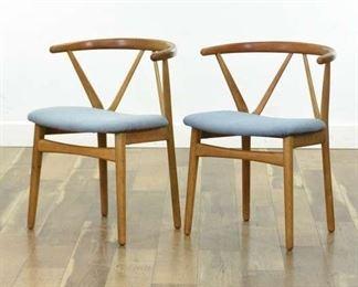 Pair Arkitekt Kjaernulf By Bruno Hansen Accent Chairs