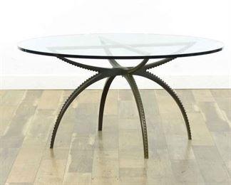 Mid Century Modern Bronze Octopus Leg Low Dining Table