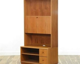Jesper Mid Century Danish Modern Secretary Desk Cabinet