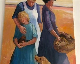 "Oil on Canvas - signed Bonnie Deffebach   -                        48"" tall x 36"" wide"