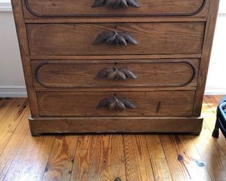 "Antique Pine Cottage Chest - $475                                           40"" wide x 18' deep x 35"" high"