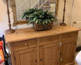 "Antique Pine cabinet $750 dimensions 23""x37""x55.5"""