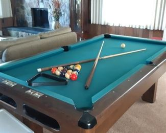 "$100, 7.5"" Buckingham pool table in vg condition with ping-pong table top."