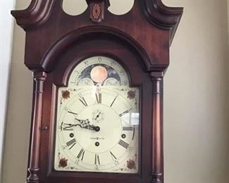 Face of Howard Miller Grandfather Clock