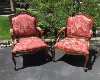 Set of French Chairs by Sherrill $450 pair