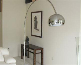$350 - 7 foot MCM Italian Arc Eyeball Floor Lamp
