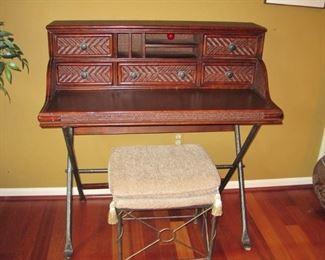 """$126 - Desk & Ottoman 42"""" wide x 22"""" deep & 43"""" tall"""