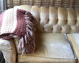 Vintage tufted sofa $225.00