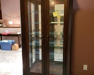 Amish built China Cabinet with light