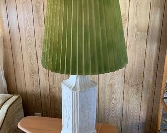 Mid Century Porcelain Lamps- Set of 2