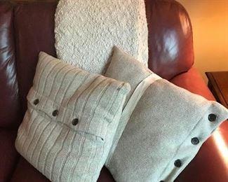 Pillows $8 pair, throw $8