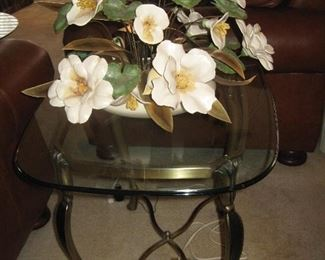 Matching Glass End Tables, One of the many Really Nice Arrangements...