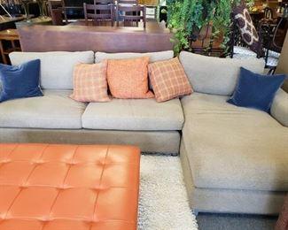 Sofa $1200  Ottoman  $650    Pillows $20ea. Blue pillows SOLD.