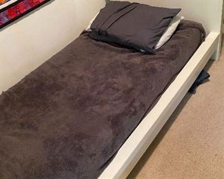 $30   White IKEA MALM twin bed including mattress.