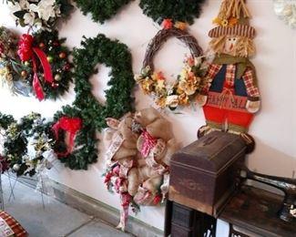 Dozens of wreaths