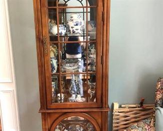 Solid wood curio cabinet