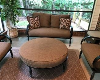 Strong  metal outdoor furniture with cushions