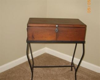 Storage box $45.  This is a small piece that is a bit shorter than end table height.