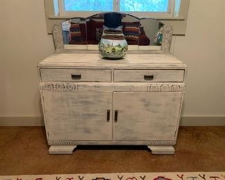 Vintage buffet with mirror