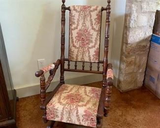 Antique platform rocker chair