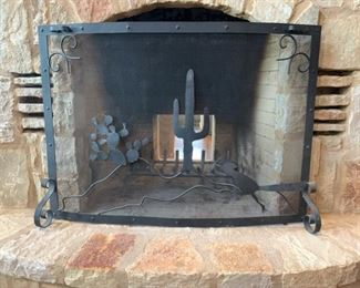 Custom hill country fire screen