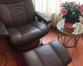 Ekornes Stressless recliner and ottoman Made in Norway