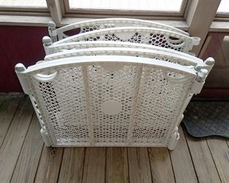 """Child outdoor playard fencing with stakes 3 - 65"""" folding pieces (195"""" total) 27""""h. $20"""