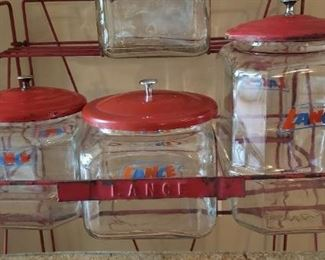 Vintage all original Lance Jar Display
