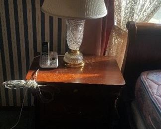 3. END TABLE $38 AND CRYSTAL LAMP$18