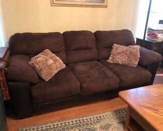 Micro suede sofa