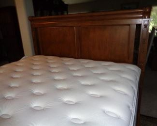 king bed, nice mattress