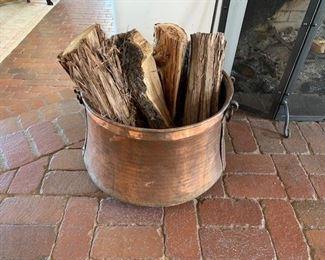 Vintage copper cauldron