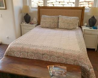 Designer Thomas Calloway queen size bed with Tempurpedic mattress