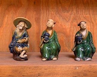 Vintage Chinese mud men