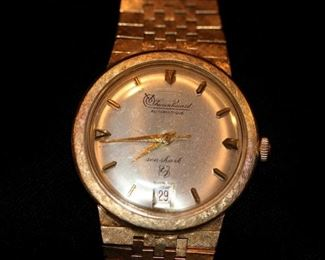 14K Lucien Piccard Seashark Watch with 14K Band