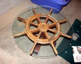 Ship's Wheel Coffee Table