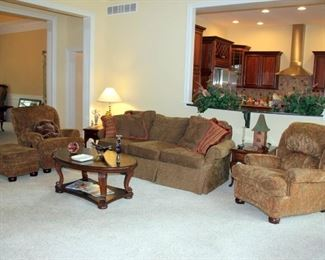 Century Furniture Sofa, Recliners and Ottoman