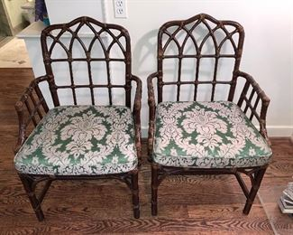 Pair of McGuire chairs $450