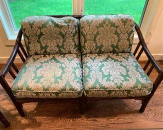 McGuire loveseat and chair set in excellent condition - set $1200